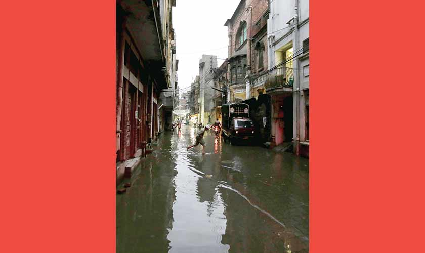Urban flooding often affects low-income areas and shanty towns, not taken up by housing societies and squatted upon.— Photos by Rahat