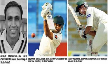 Beginning with a bang... Pakistan's Test debut centurions