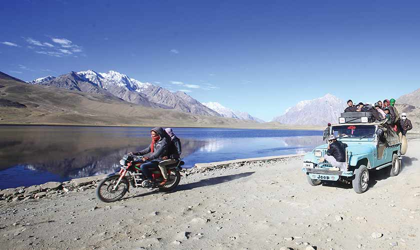 """""""You will see hundreds of people of all ages going to Shandur on four-wheelers, horses and even by foot."""""""
