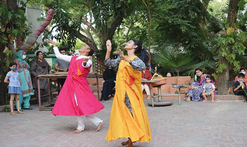 Zakariya Iqbal and Jessica caught in motion during their performance.