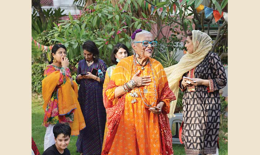 Sheherezade Apa welcomes the families and children into Jahanara's world.
