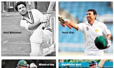 A century in each innings of a Test