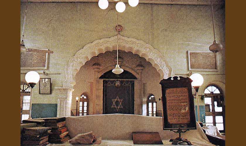 The demolished Magane Shalome synagogue, Karachi. — Source Flickr