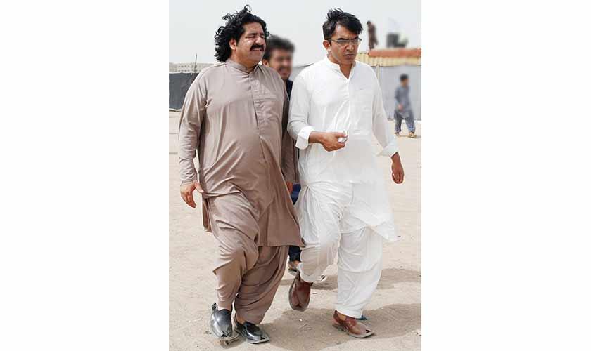 Ali Wazir, left, and Mohsin Dawar heading to a PTM rally in Karachi SOURCE Akhtar Soomr. — Reuters