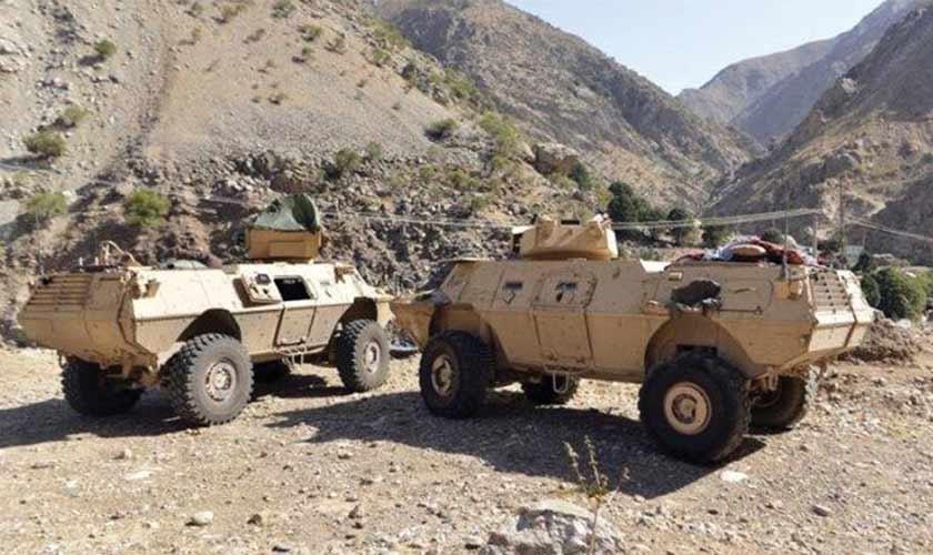 Armoured vehicles seen in Panjshir Valley, north of Kabul, Afghanistan on August 25. — Reuters