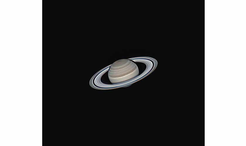 Saturn, the ringed giant. The black line in between the rings is the Cassini division. Photo courtesy: Shoaib Usman.