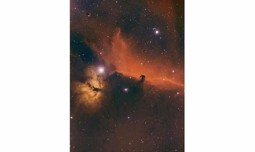 Flame Nebula and Horsehead Nebula. Photo courtesy: Shoaib Usman.