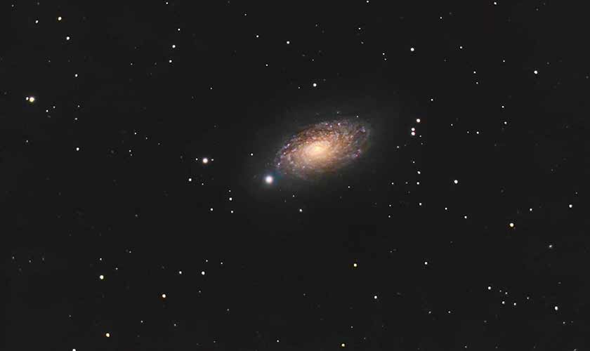 The Sunflower galaxy, as photographed in the night sky from Lahore.Photo courtesy: Shoaib Usman.