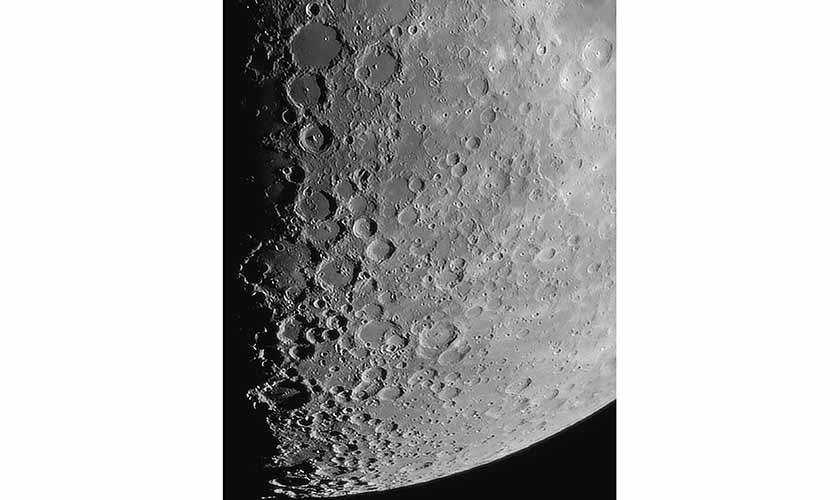 Craters within craters can be seen on the surface of the moon, in this image.   Photo courtesy: Talha Moon Zia.