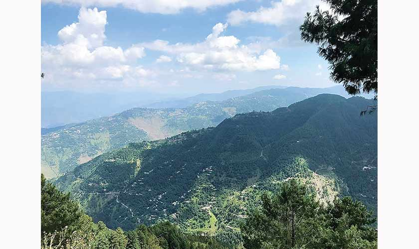 A view of Kashmir and beyond from Khanspur.