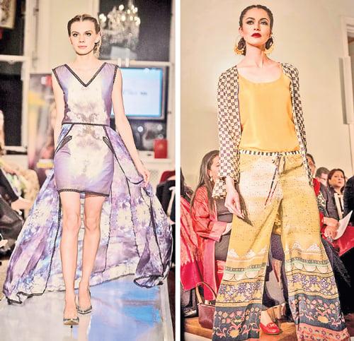 Fahad Hussayn and Sania Maskatiya put a whole new spin on the Pakistani love of prints