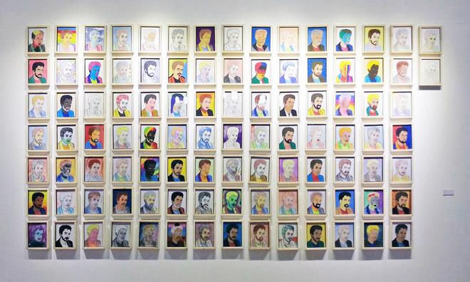 '99 Self Portraits' by Ayaz Jhokio.