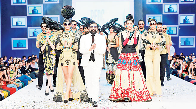 Ali Xeeshan is known to add more than a hint of drama on the runway with his outlandish styling. The designer has come a long in less than five years with two theatre studios in Lahore and Karachi