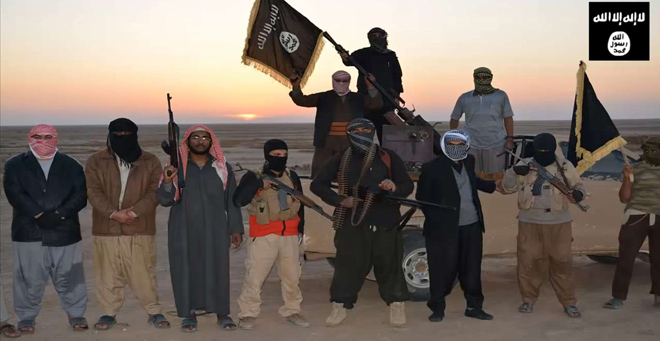 Still from a video released by ISIS.