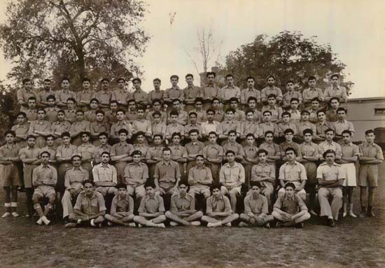 A C.M.T. company: H.M. Close seated in the middle, fifth  from left.