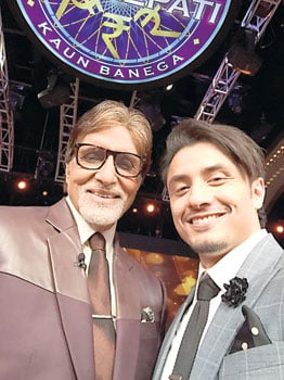 There is no need for a 'visa controversy': Seen here promoting his upcoming film Kill Dil on Kaun Banega Crorepati, Ali Zafar maintains that he has always complied with the necessary visa requirements in his four-year stint in Bollywood.