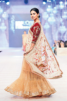 The finished product on model Sunita Marshall at PLBW looks beautiful and unique in composition.