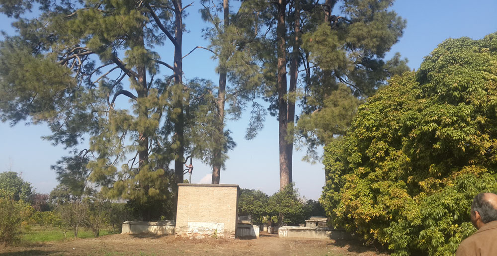British cemetery in Hari Singh Garden.