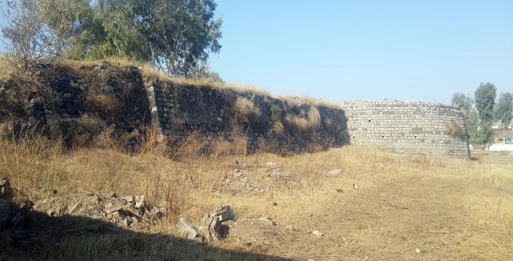 Harkishan Garh Fort wall.