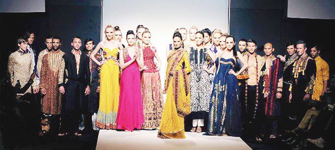 HSY's collection for the Dubai Fashion Week some years ago; he is a firm believer in exploiting the lucrative Middle Eastern market.