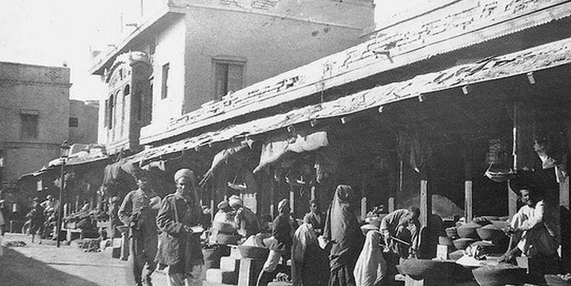 An old bazaar in Kohat.