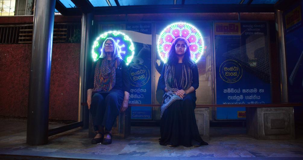 Zoya Siddiqui and Janet Meaney at Theertha International Performance in Sri Lanka.