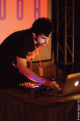 Bilal Nasir Khan aka Rudoh playing a live set during FXS-Hi Tea show, circa 2014