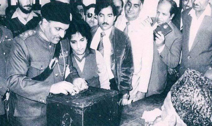 Zia's 'Islamisation' got over 98 per cent votes in the 1984 referendum.
