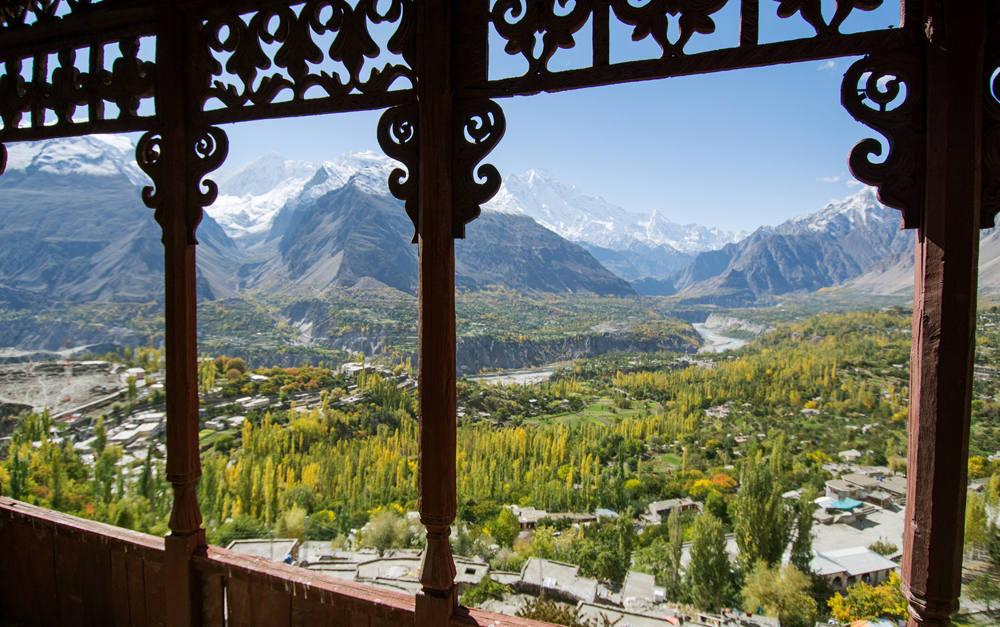 A view of Hunza Valley from Baltit Fort