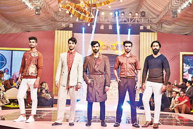 The most understated capsule of the evening came with Omar Farooq's menswear (Republic) and while we would have loved some tall, dark and handsome drama, we're just relieved there were no brown and gold jamevar sherwanis and turbans on display.