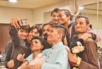 Selfie moment: It's an achievement worth smiling for. The project includes the participation of 150 kids since it was started in 2013 by Nida Butt and Hamza Jafri.