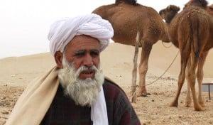 Molvi Khuda-i-Noor awaiting help.