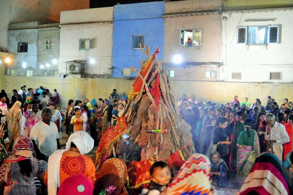 Spirits soar at this year's Holi celebrations.