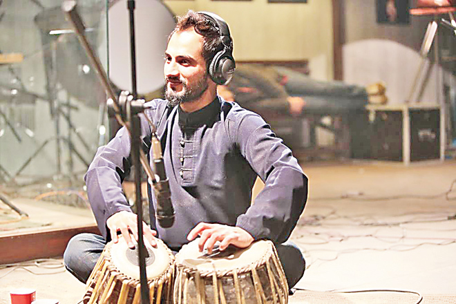 Asif Amin shines on the tabla.