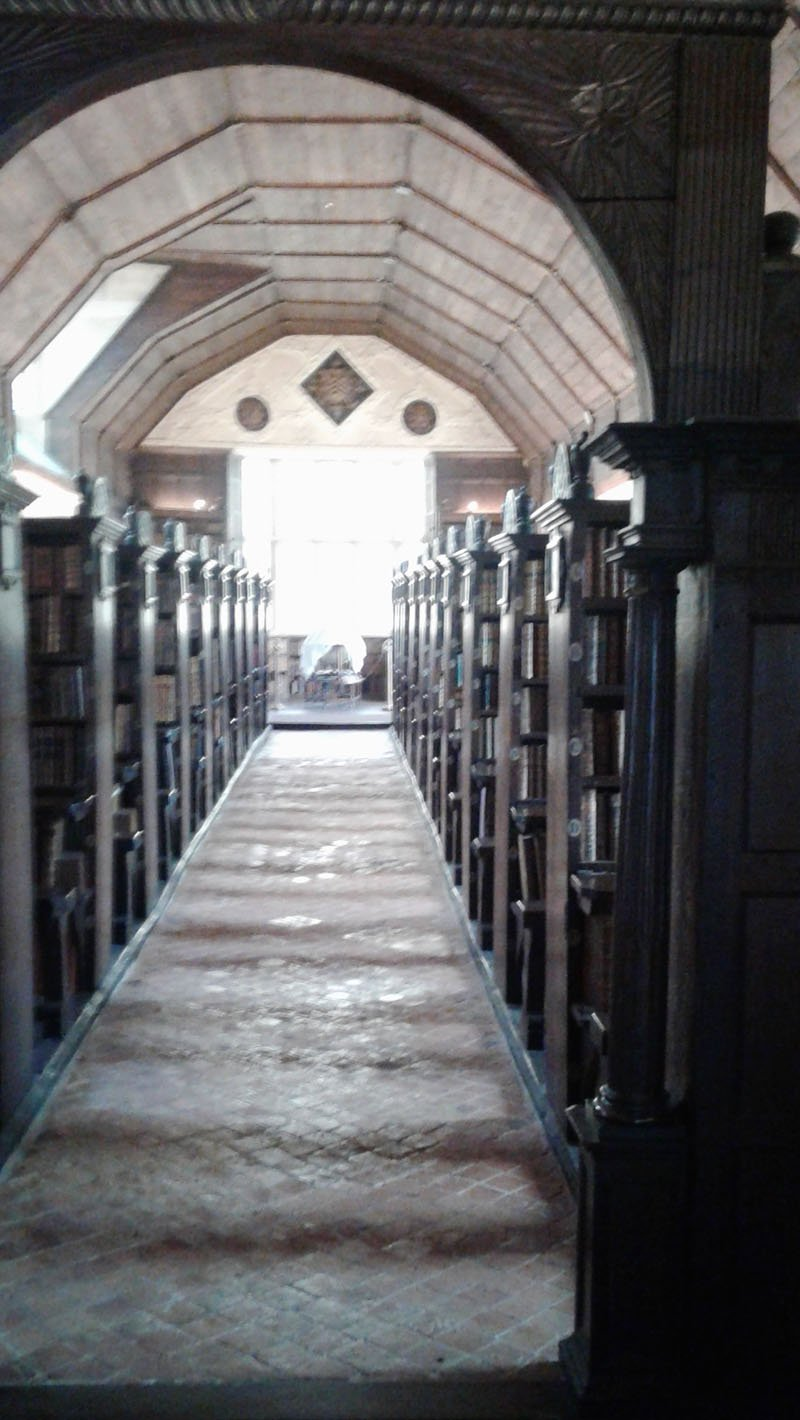 Inside the chained library.