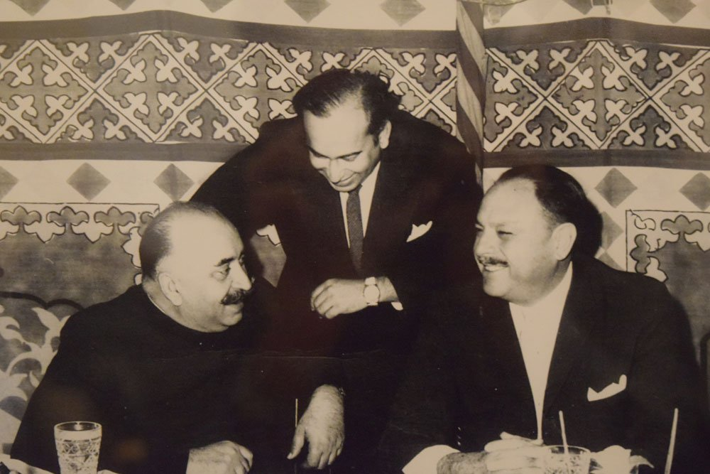 Nawab, Bhutto and Ayub Khan.