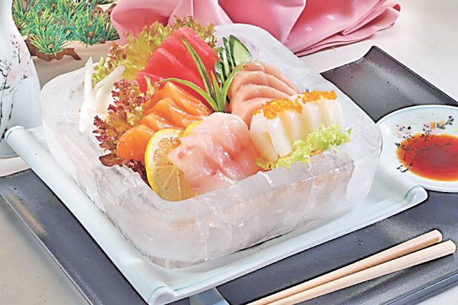 Served in a bowl of ice that looks cool and serves a purpose as well, the sashimi platter at Sakura shouldn't be missed.