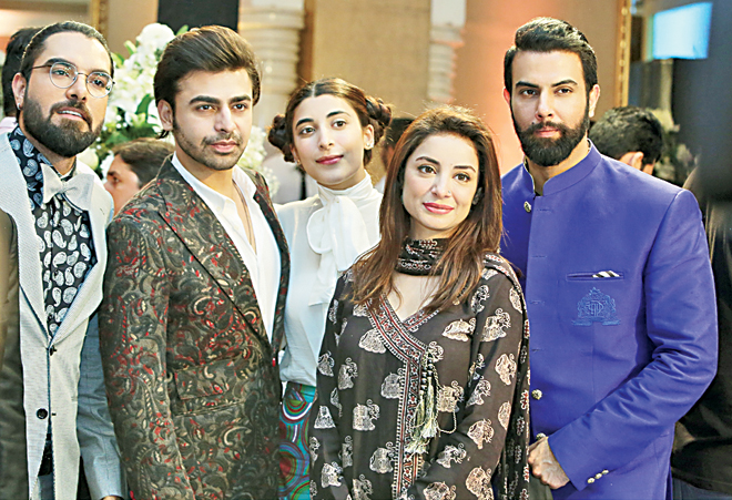 Yasir Hussain, Farhan Saeed, Urwa Hocane, Sarwat Gillani and Noor Hassan Rizvi at the LSA Nominee Reveal event.