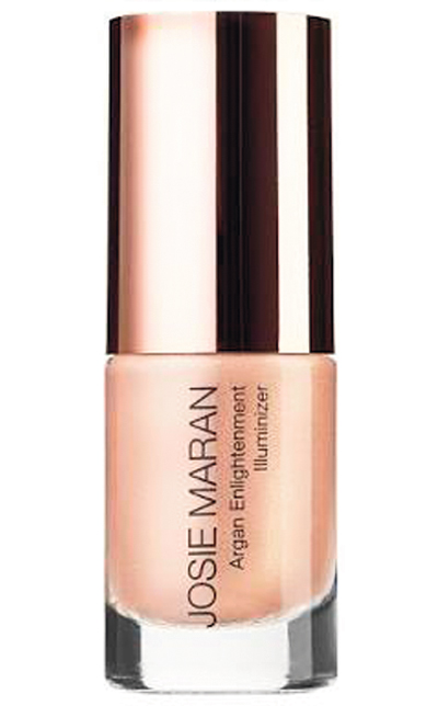Josie Maran's mineral rich highlighter gives you a gorgeous lit from within glow that can be build up for greater sheen.
