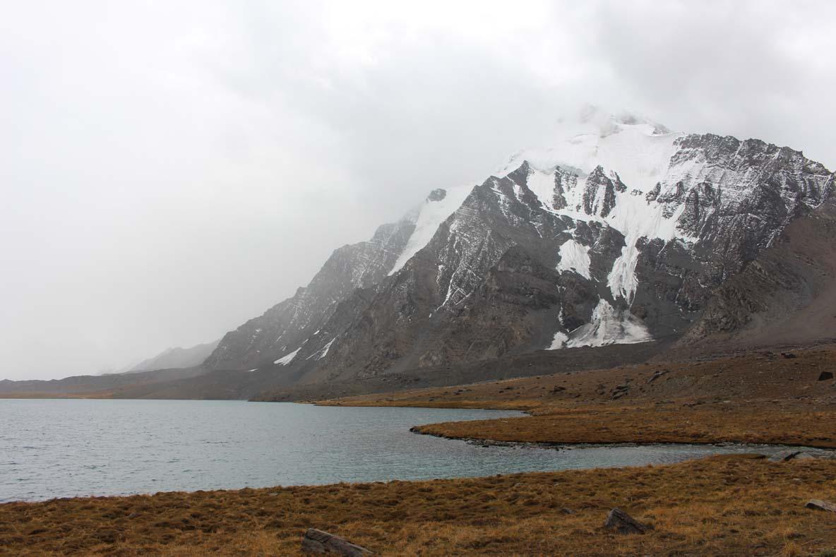 The heavily melted glacier aside Karombara, awaiting fresh snows.