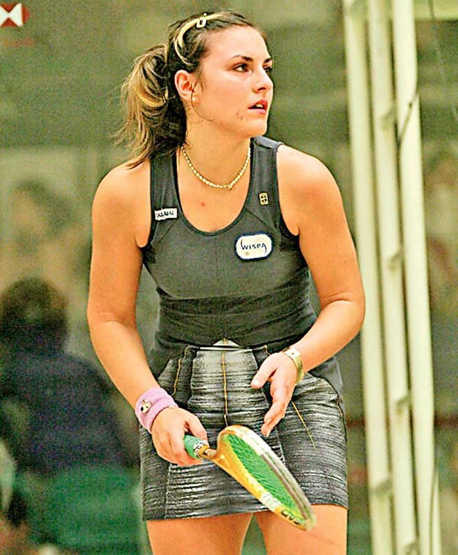 IN HER PRIME: Carla Khan was once counted among the best players on the international women's squash circuit.