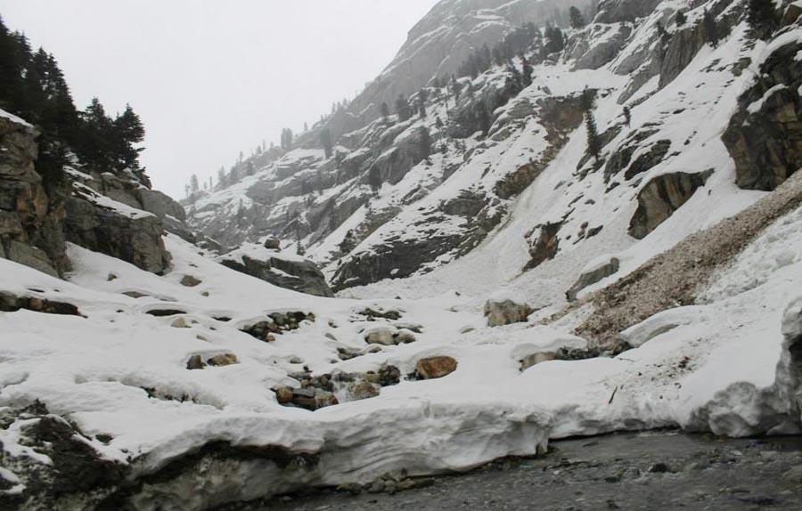 Lowari pass, mid-December awaiting avalanches.