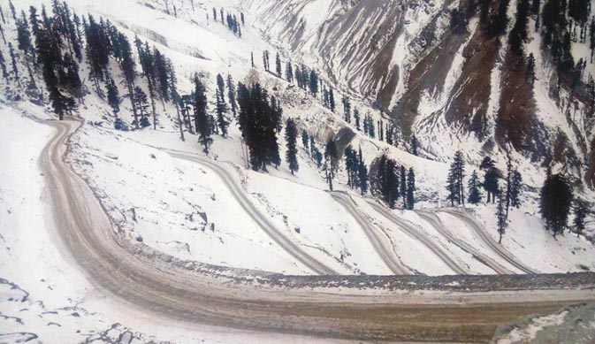 The notorious hairpin bends of Lowari pass.