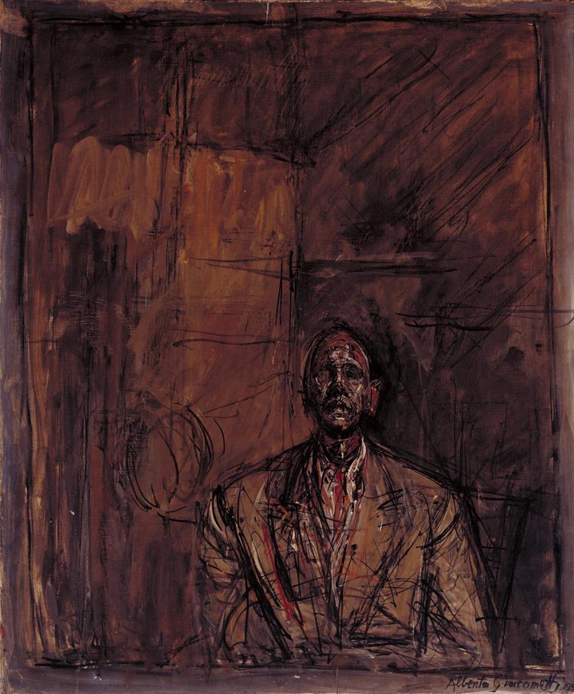 Jean Genet 1954 or 1955 by Alberto Giacometti 1901-1966