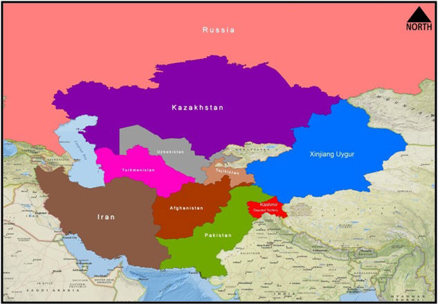 CPEC countires map1