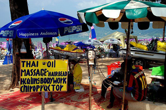 hawkers patong beach