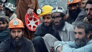Coal miners wait for the recovery of their colleagues in Quetta. Courtesy: Jamal Taraqai/EPA