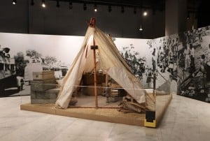 The museum uses audio-visual recordings and digital exhibits to portray several significant moments in history.