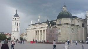 Cathedral Square, Vilnius.