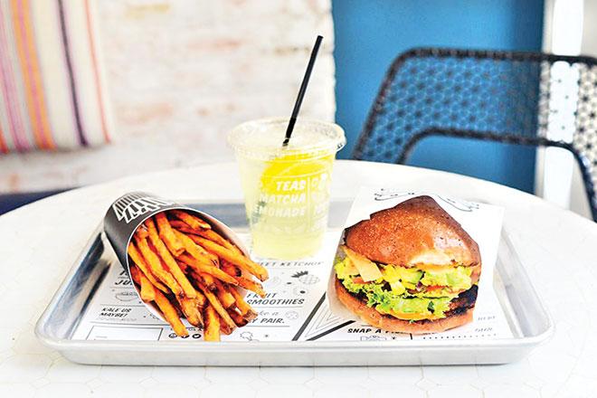Vegan Guacamole burger at By Chloe